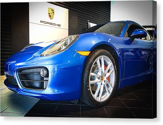 Porsche Cayman S In Sapphire Blue Canvas Print