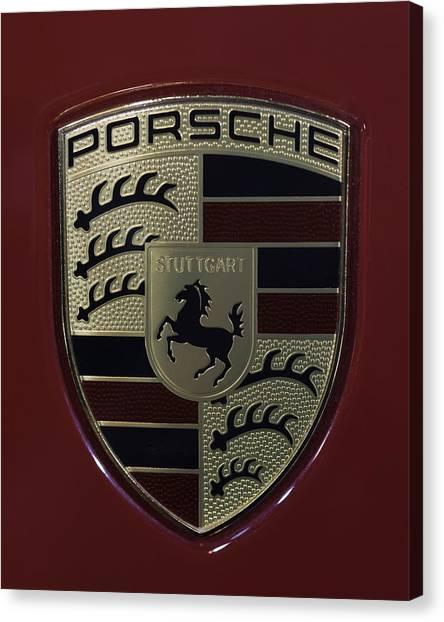 Porsche Emblem Canvas Print