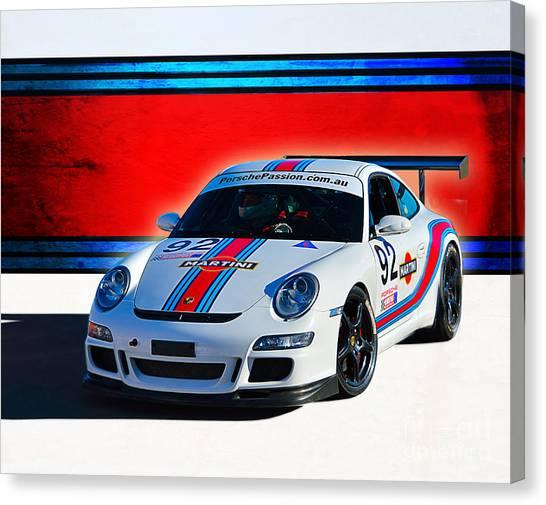 Porsche Gt3 Martini Canvas Print