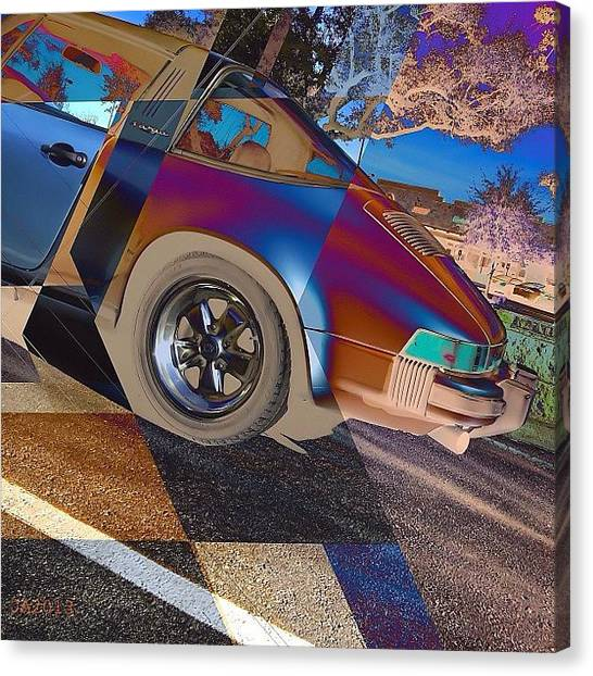 Superbowl Canvas Print - Porsche:  #instagramhub #instacool by Jimmy Aldridge