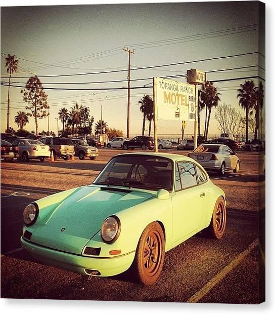 Porsche Canvas Print - #porsche #soloparking #bxcars by Bx N-fx