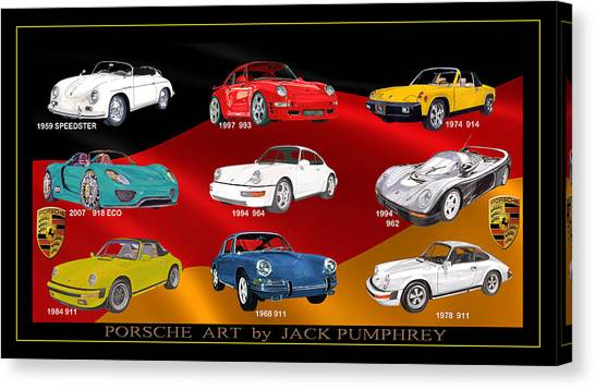 Canvas Print - Porsche Times Nine by Jack Pumphrey