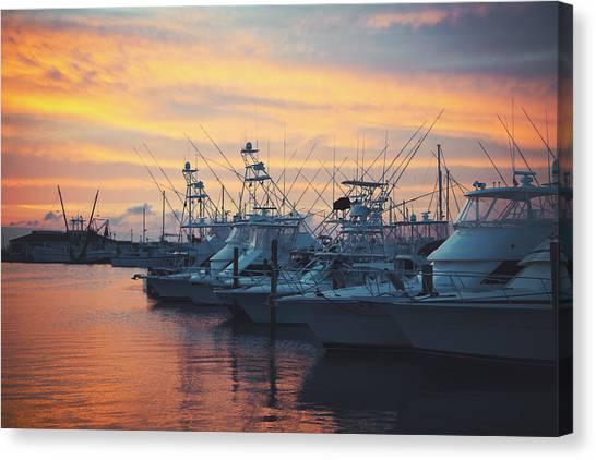 Port Aransas Marina Sunset Canvas Print