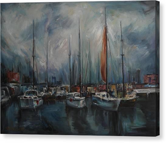 Port At Dusk Canvas Print