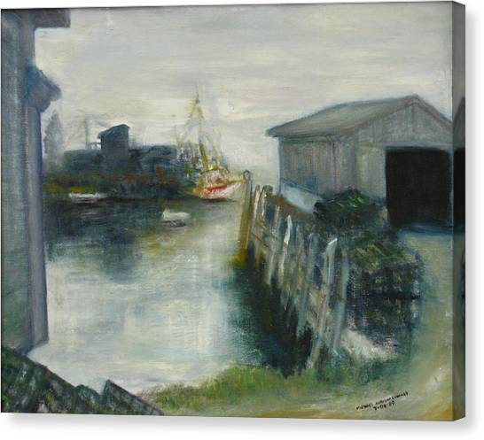 Port Clyde In Fog Canvas Print