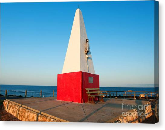 Canvas Print featuring the photograph Port Denison Obelisk by Yew Kwang