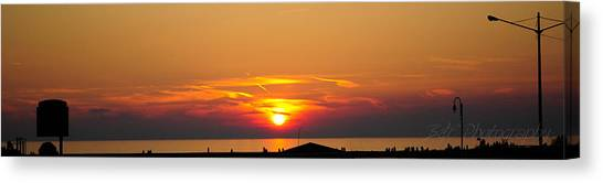 Port Elgin Sunset Canvas Print by BandC  Photography