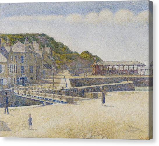 Pointillism Canvas Print - Port En Bessin by Georges Pierre Seurat