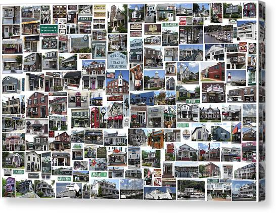 Port Jefferson Photo Collage Canvas Print