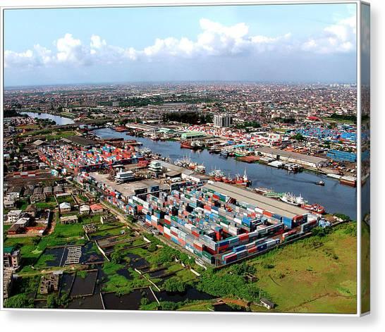 Nigeria Canvas Print - Port Of Lagos by Alex Bartel/science Photo Library