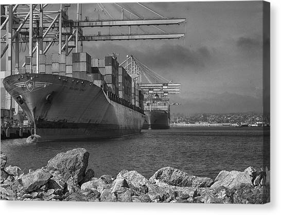Port Of Long Beach Canvas Print