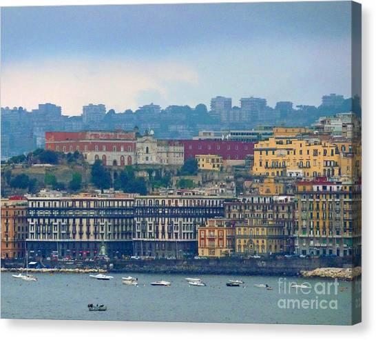 Port Of Napoli Canvas Print