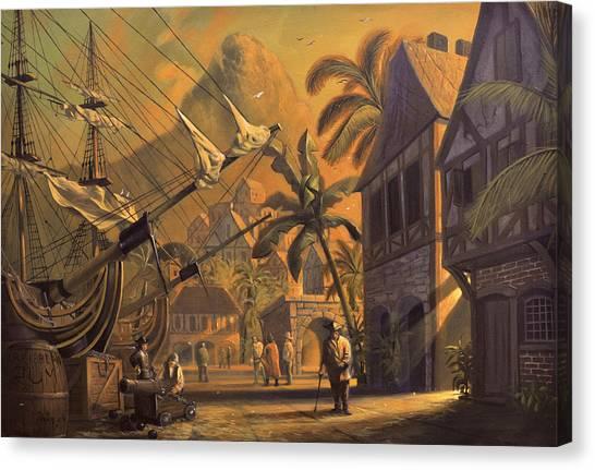 Port Royal Canvas Print by A Prints