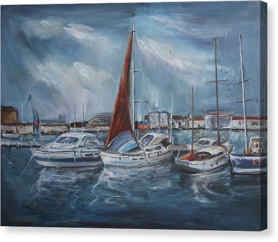 Port - Sunny Day Canvas Print by Stefano Popovski