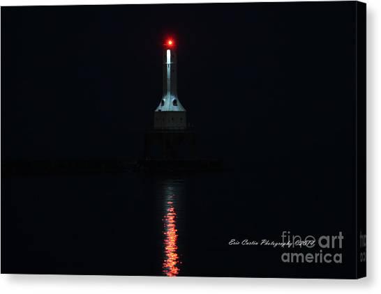Port Washington Night Light. Canvas Print by Eric Curtin