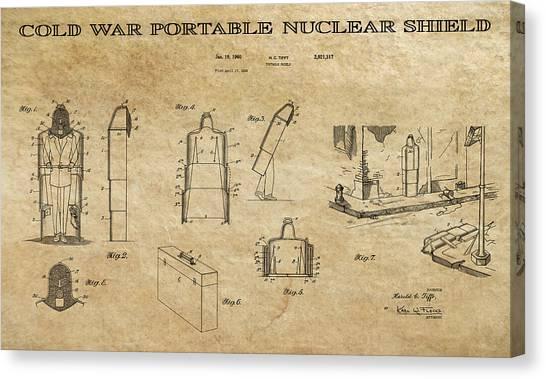 Missles Canvas Print - Portable Nuclear Shield 2 Patent Art by Daniel Hagerman