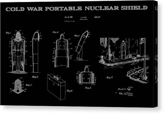 Missles Canvas Print - Portable Nuclear Shield 3 Patent Art by Daniel Hagerman