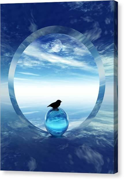 Portal Canvas Print - Portal To Peace by Richard Rizzo
