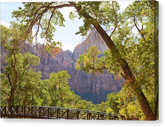 Portal To Zions Canvas Print