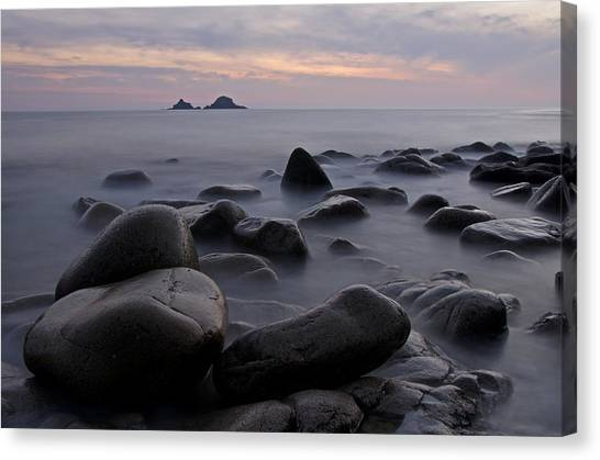 Porth Nanven In Cornwall Canvas Print