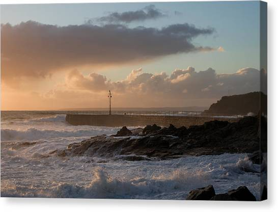 Porthleven In Cornwall Canvas Print