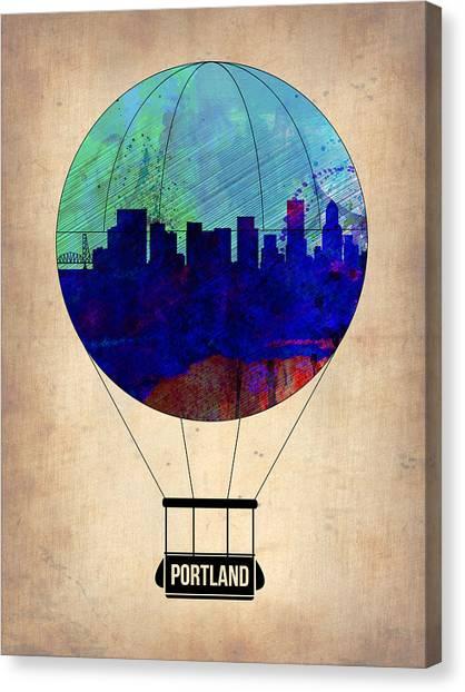 Portland Canvas Print - Portland Air Balloon by Naxart Studio
