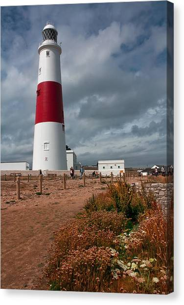 Portland Bill Lighthouse Canvas Print by Shirley Mitchell