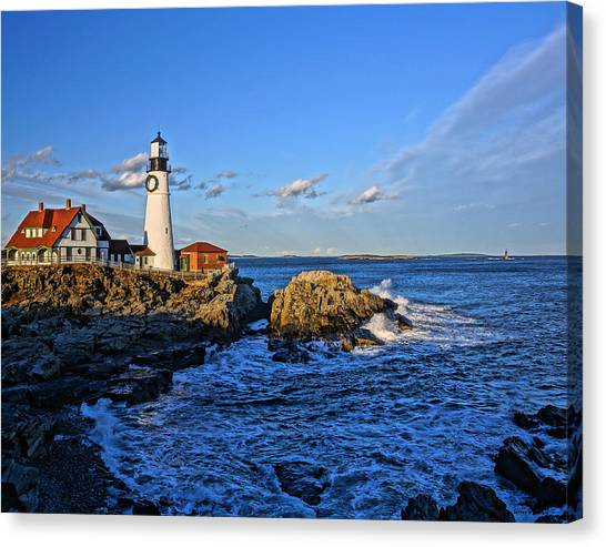 Elizabeth Warren Canvas Print - Portland Head Light 02 by Jeff Stallard