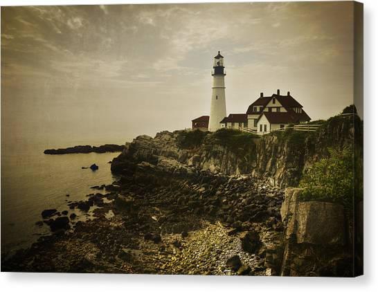 Portland Lighthouse Canvas Print - Portland Head Light II by Joan Carroll
