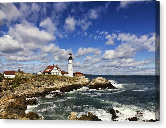 Portland Head Light Seascape Canvas Print