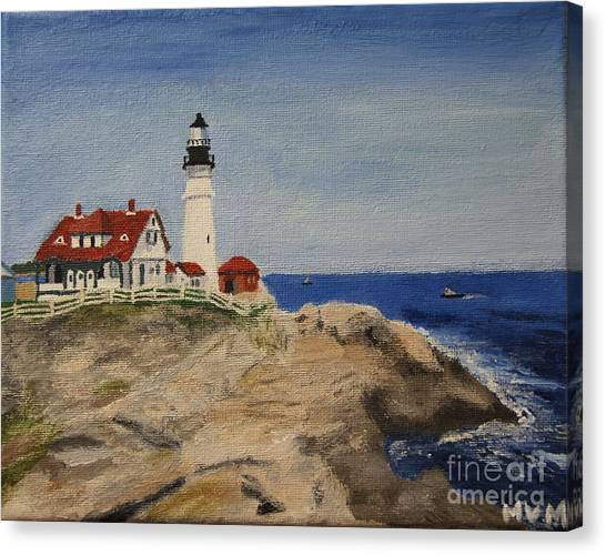 Portland Head Lighthouse In Maine Canvas Print