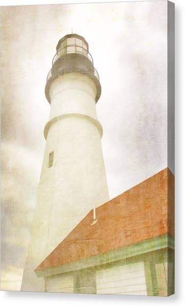 Portland Canvas Print - Portland Head Lighthouse Maine by Carol Leigh