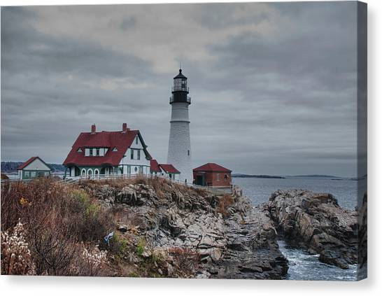 Portland Headlight 14456 Canvas Print