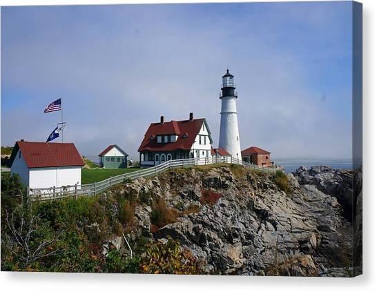 Portland Lighthouse  Canvas Print by Melissa C