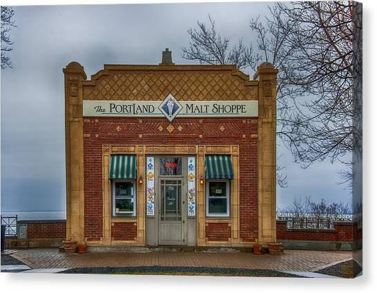 Pavers Canvas Print - Portland Malt Shop by Paul Freidlund