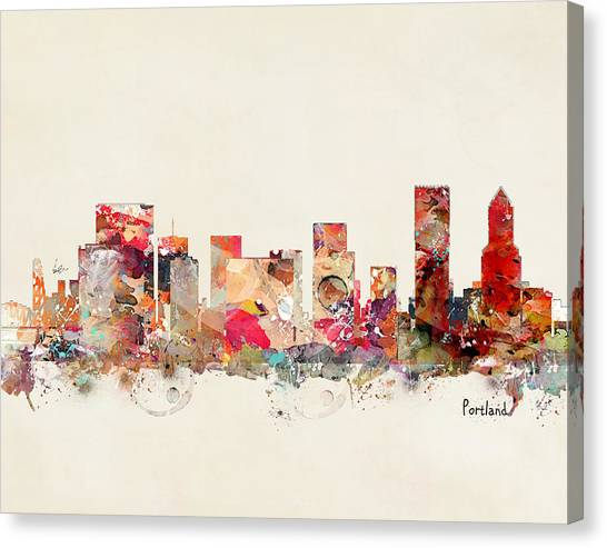 Portland Canvas Print - Portland Oregon by Bri Buckley