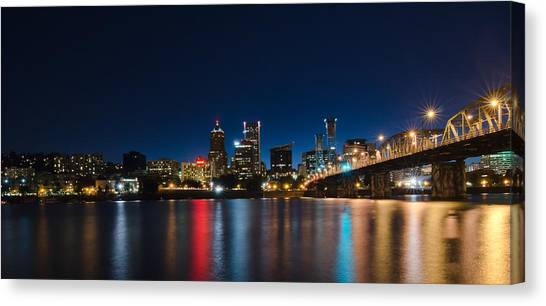 Portland Oregon Nightscape Canvas Print