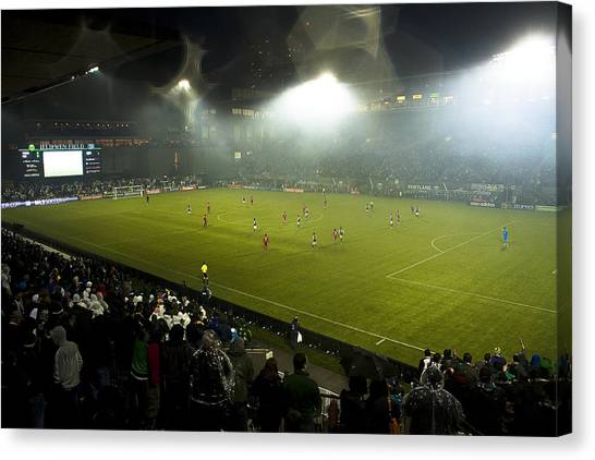 Portland Timbers Canvas Print - Portland Timbers Inaugural Home Match by Steven Lenhart