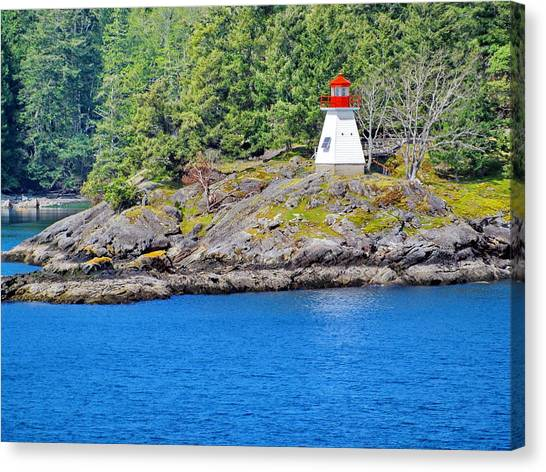 Portlock Point Lighthouse In British Columbia Canvas Print