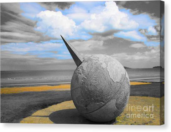 Portmanuck Sphere Ireland Canvas Print by Jo Collins