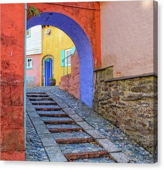 Old Door Canvas Print - Portmerion by Danny Mendoza