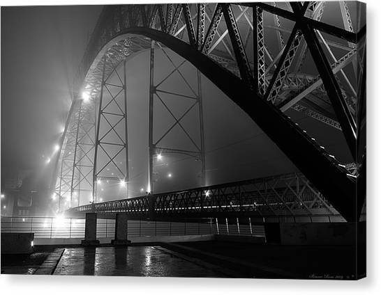 Porto @ Night Fog Canvas Print