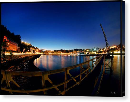 Porto By Night. Canvas Print
