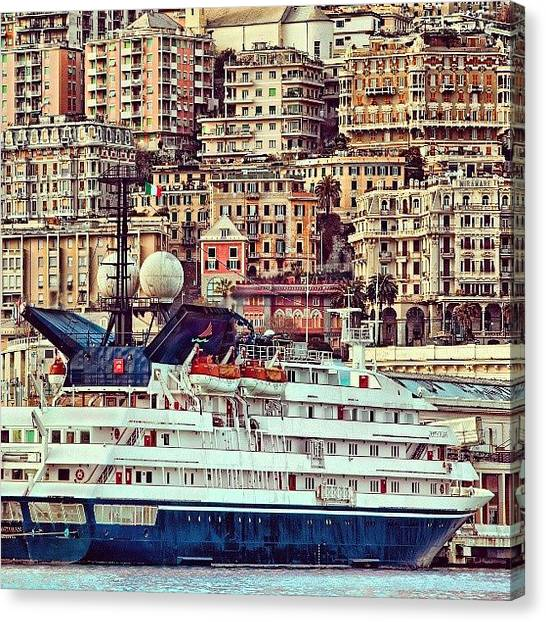 Case Canvas Print - Porto Di #genova by Paolo Margari
