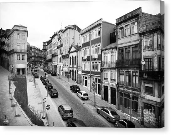 Porto Street Parking Canvas Print by John Rizzuto