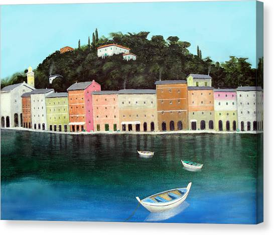 Portofino By The Sea Canvas Print