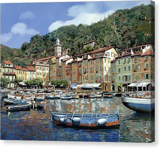 Villages Canvas Print - Portofino by Guido Borelli
