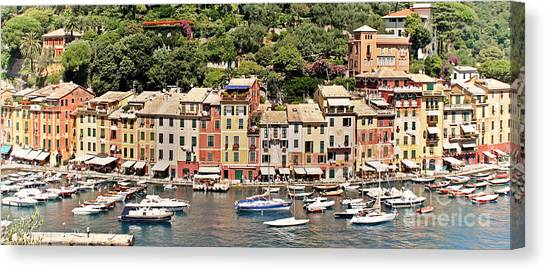 Portofino Panorama Canvas Print