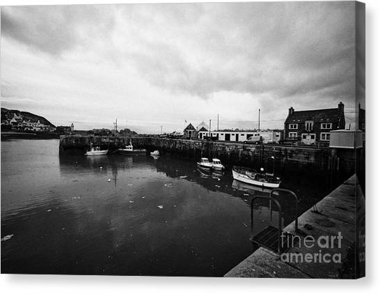 Portpatrick Harbour Scotland Uk Canvas Print by Joe Fox