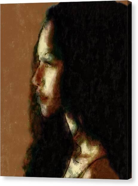 Portrait In Sepia Tones  Canvas Print